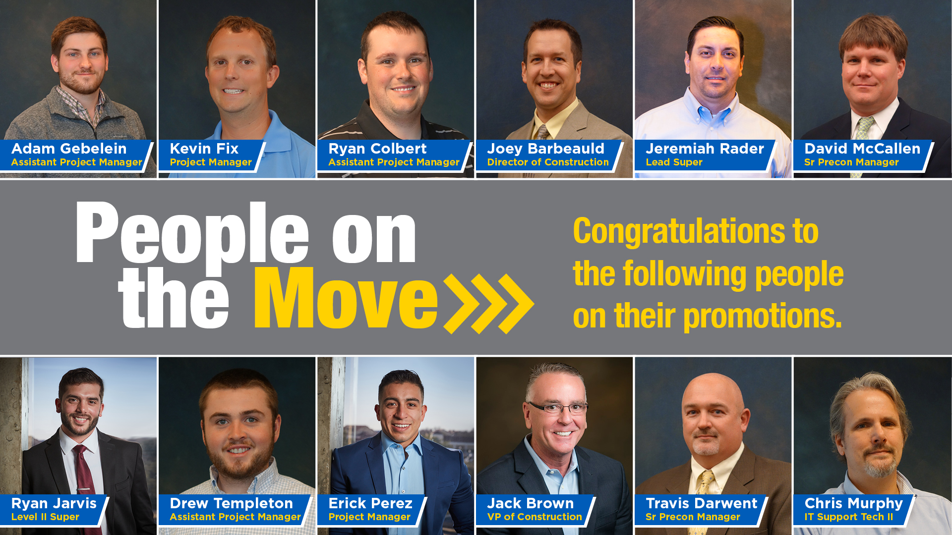 People on the Move - EMJ Construction Promotions